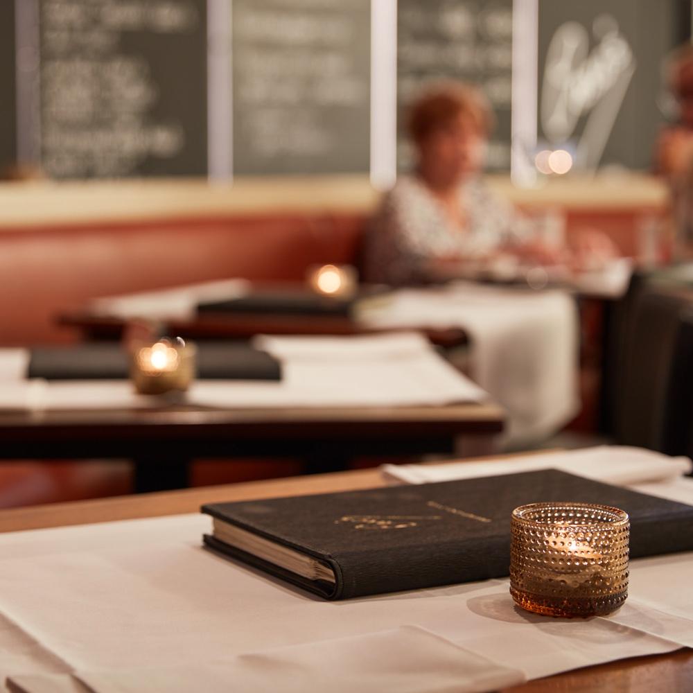 Caros - menu - interieur tafel